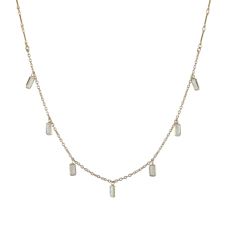 Rectangle Opals Necklace
