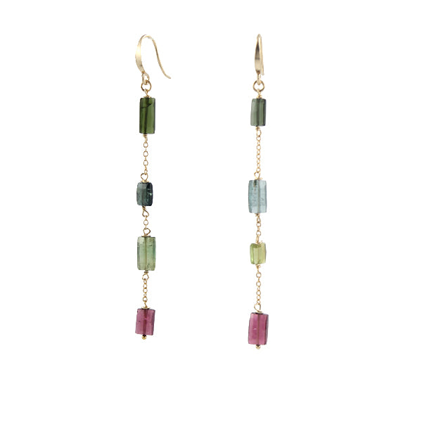 Rectangle Tourmaline Earrings