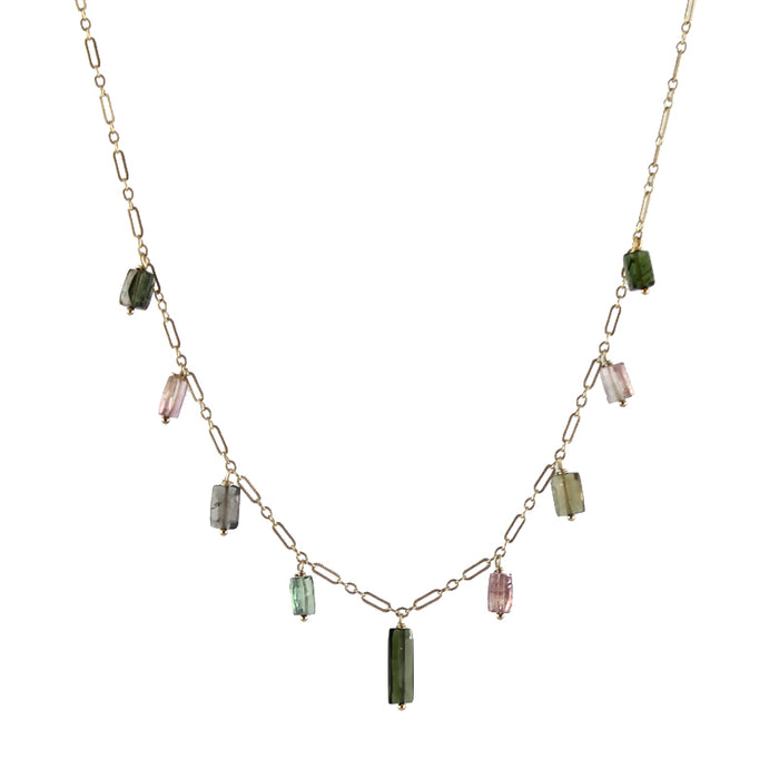 Rectangle Tourmaline Necklace