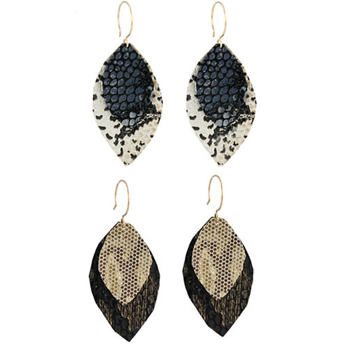 Recycled Leather Earrings by Peggy Li