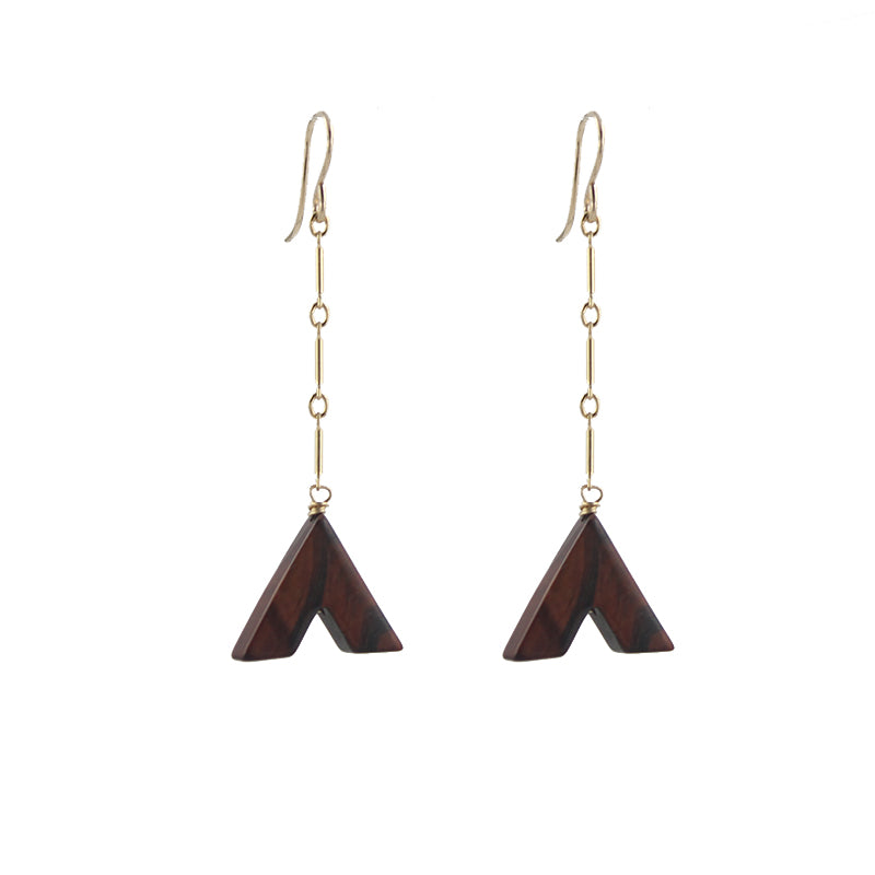 Red Tiger Eye Drop Earrings