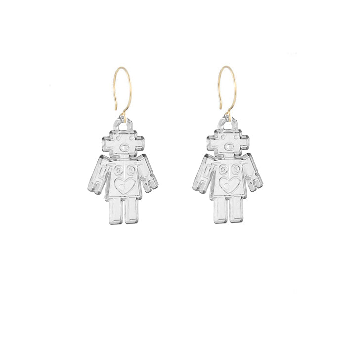 Retro Robot Earrings