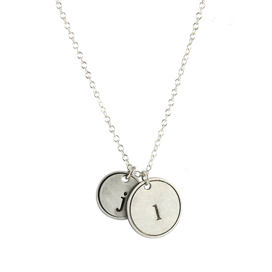 Rimmed Initial Necklace
