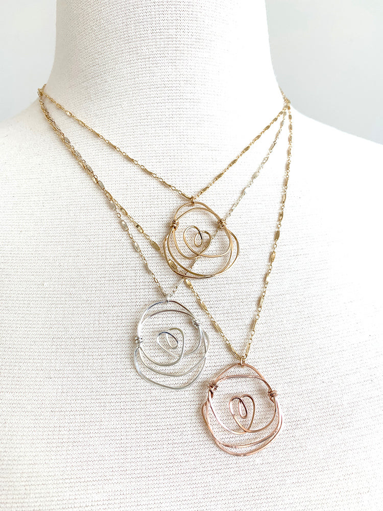 Santa Rosa Rosette Necklaces