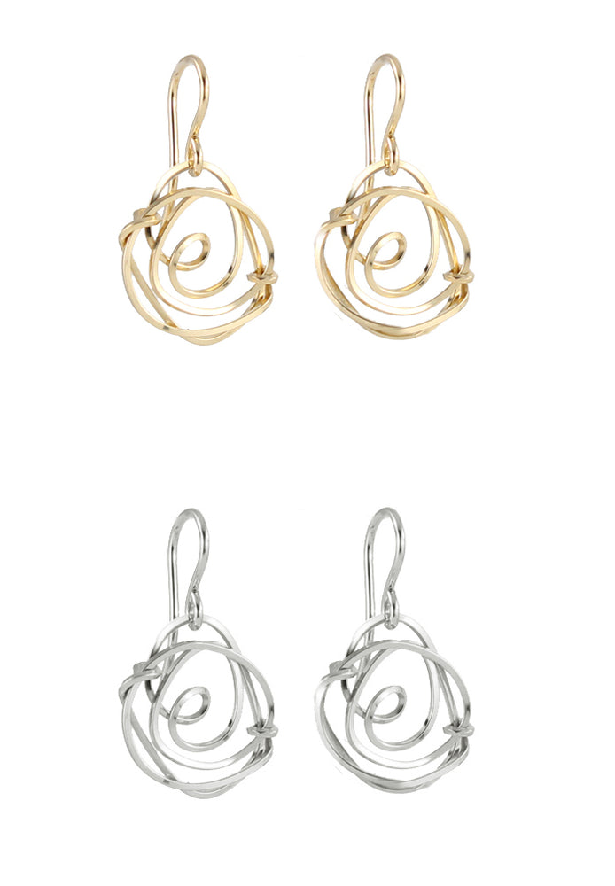 Santa Rosa Rosette Earrings