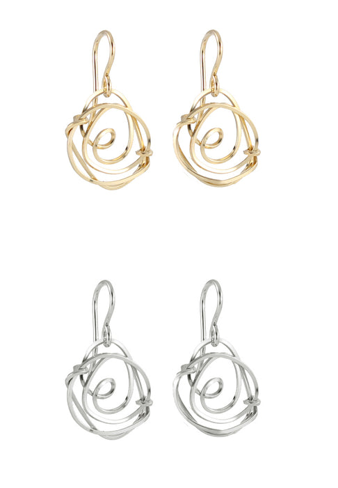 Rosette Earrings Rose Earrings