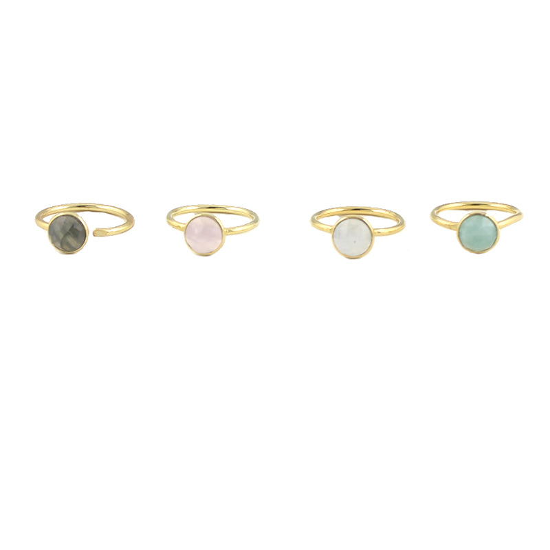 Round Cut Gemstone Ring