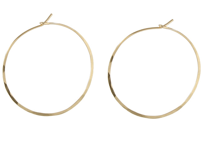 Handmade gold hoop earrings