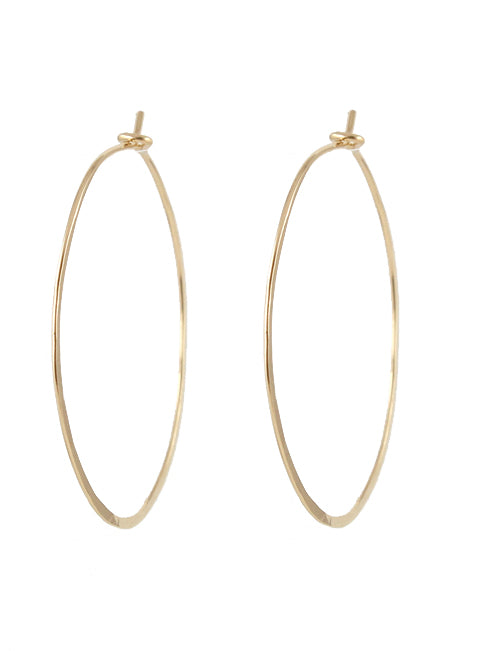 Delicate Hoop Earrings - detail