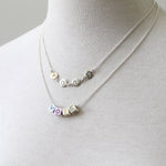 Sterling silver vote letter necklace