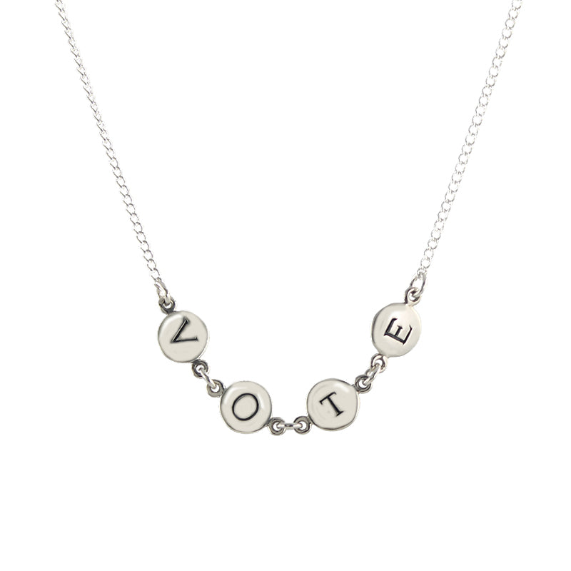 Silver VOTE Necklace