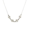 Silver letter vote necklace