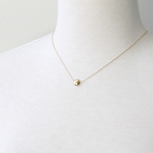 Simple Dot Necklace, gold detail