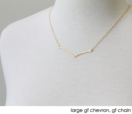 Chevron Necklace, gold
