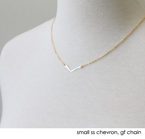 Chevron Necklace, sterling chevron