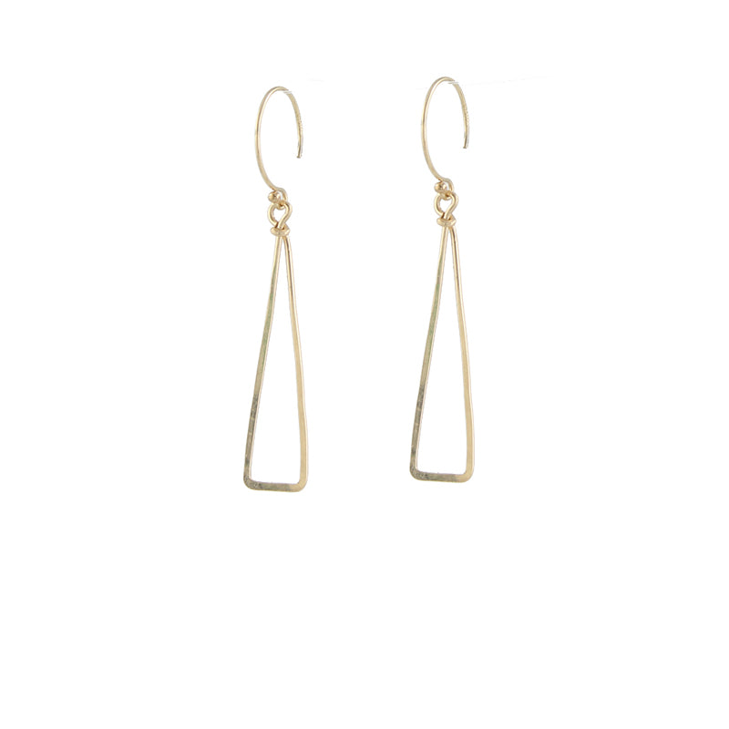 Skinny Triangle Earrings