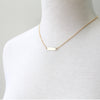 Slim ID Necklace, gold