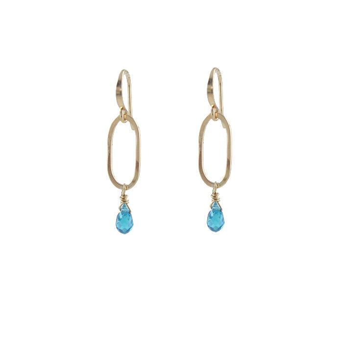 Slim Oval Sparkle Earrings