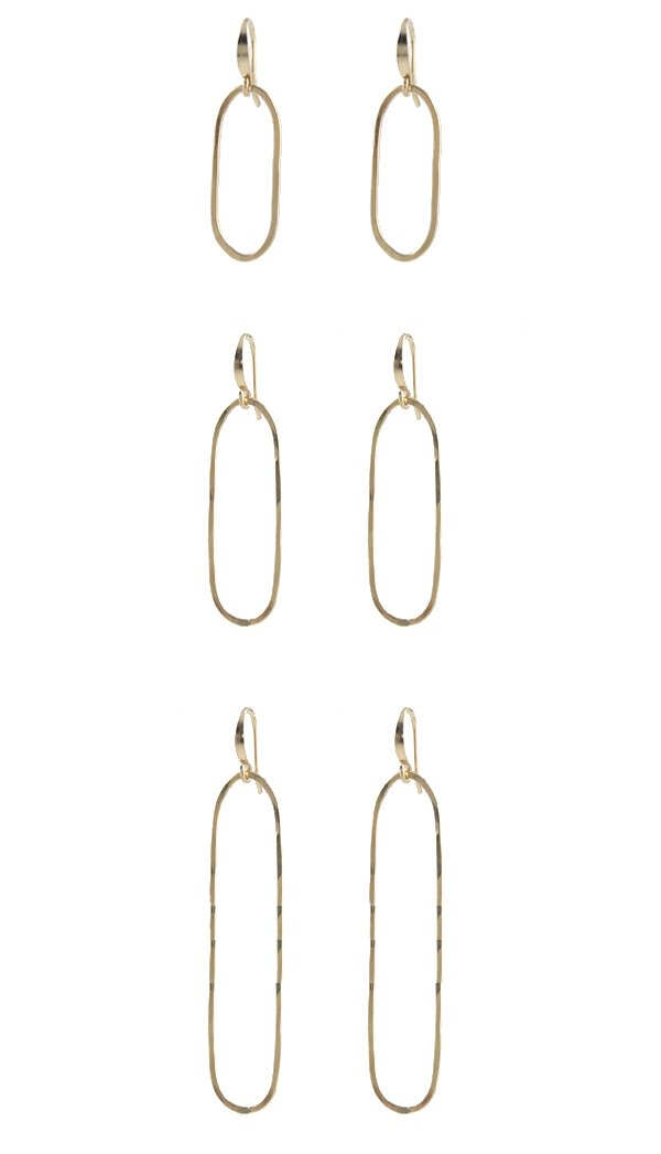 Slim Oval Earrings