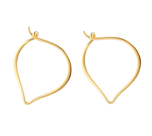 Small Lotus Hoop Earrings gold vermeil
