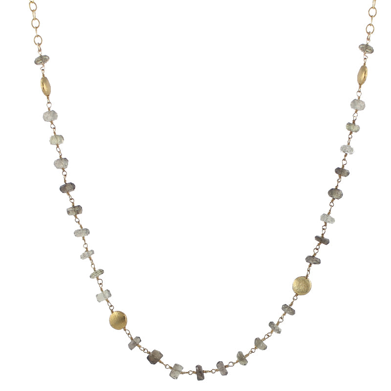 Smoky Quartz Slip On Chain Necklace