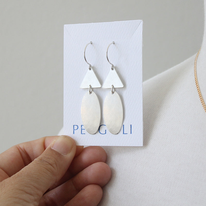 Elongated Beetle Earrings