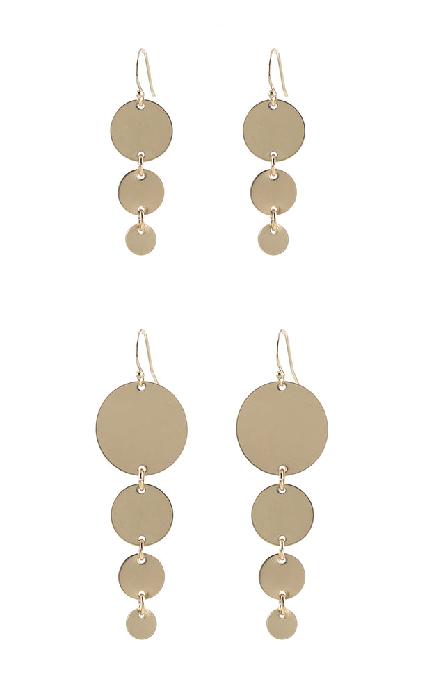 Solid Graduated Circles Earrings