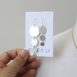 Solid Graduated Circles Earrings, silver