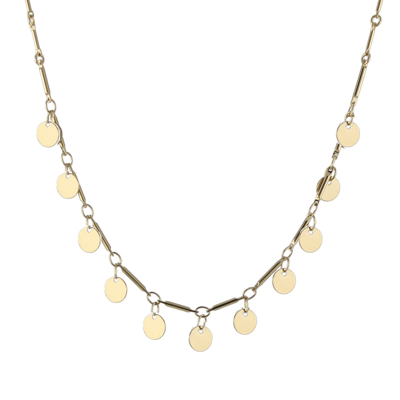 Paillette Necklace in gold
