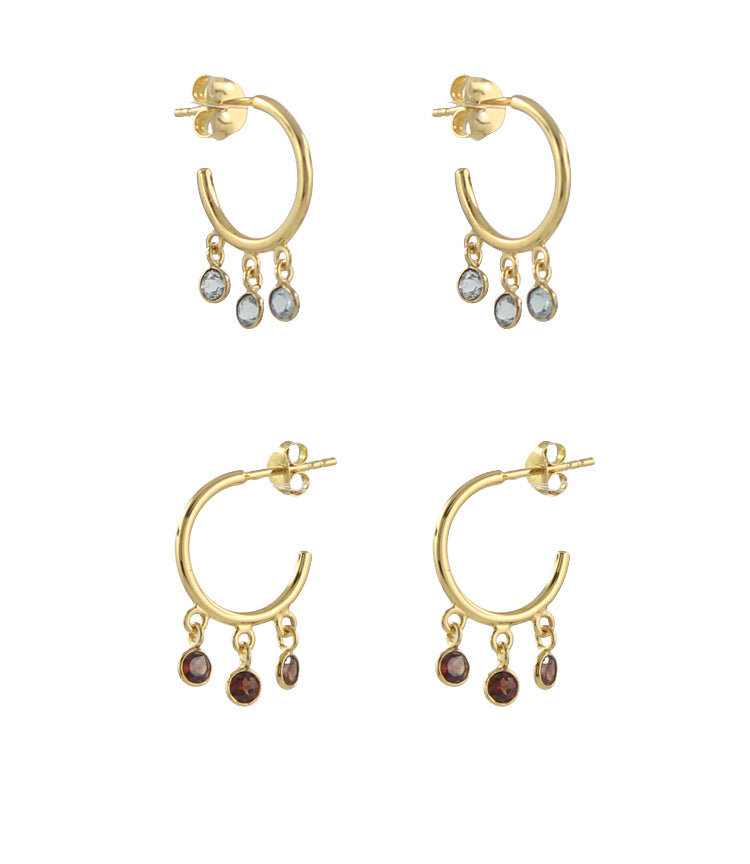 Gemstone Shaker Hoops