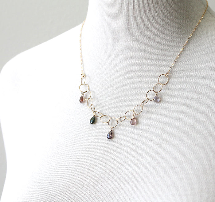 Woven Gem Spinel Necklace