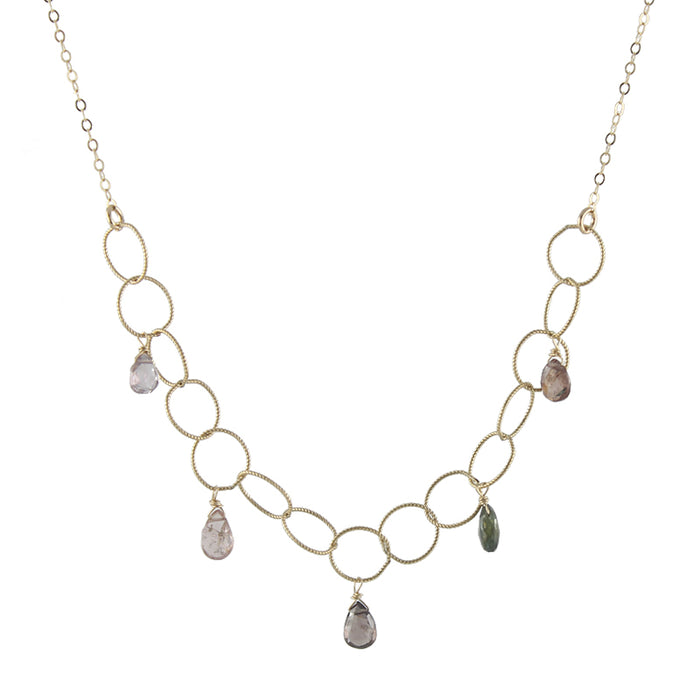 Woven Spinel Gem Necklace