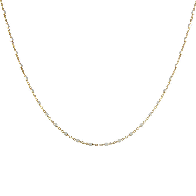 Squared Sparkle Chain Necklace