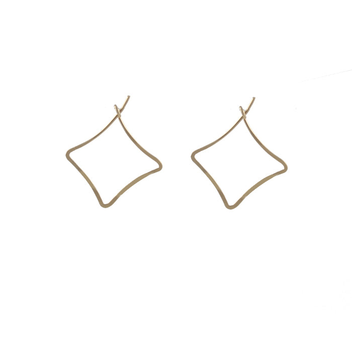 Squared Hoop Earrings