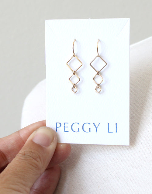 Diamondback Threader Earrings by Peggy Li Creations