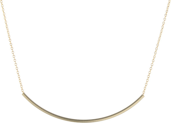 Large Square Tube Bar Necklace
