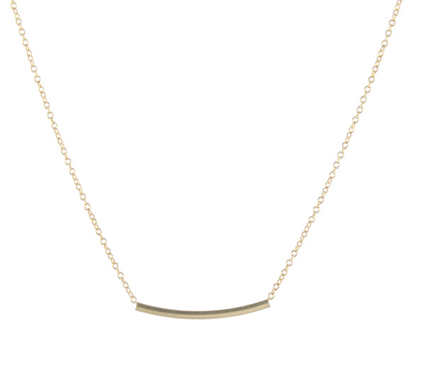 Square Tube Pendant Necklace - Small