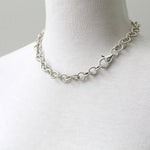 Round rope chain, sterling silver