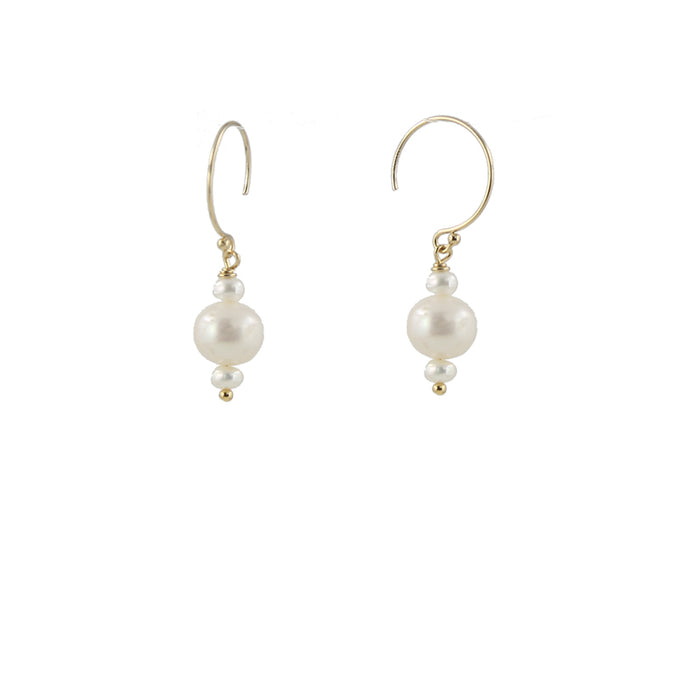Round Pearl Earrings