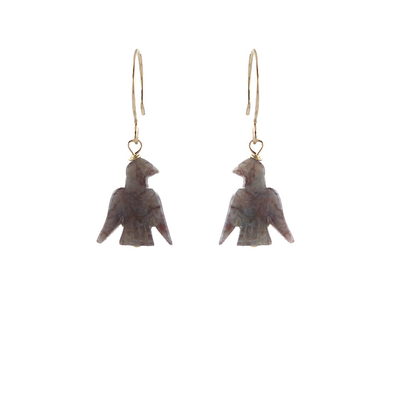 Stone Eagle Earrings