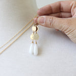 Summer White Agate Earrings