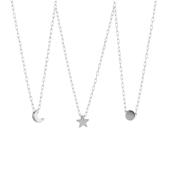 Sun, Moon, Star Charm Necklace