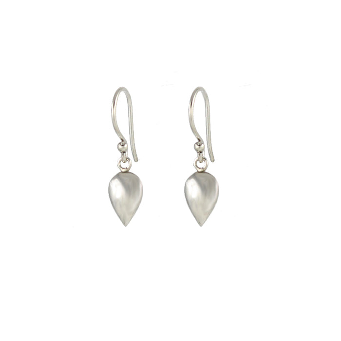 Silver droplet earrings