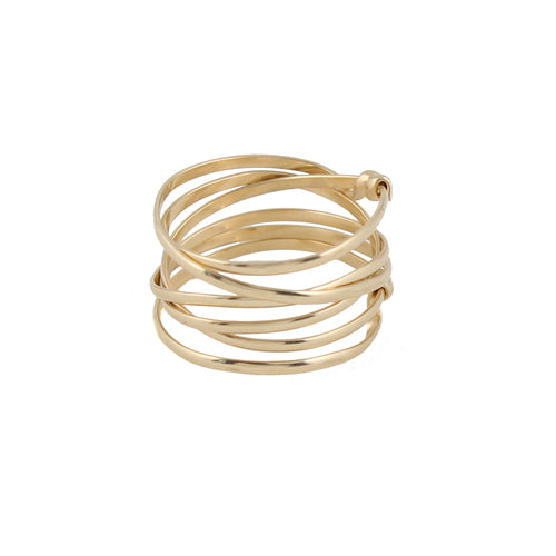 Thick Nested Wire Ring detail