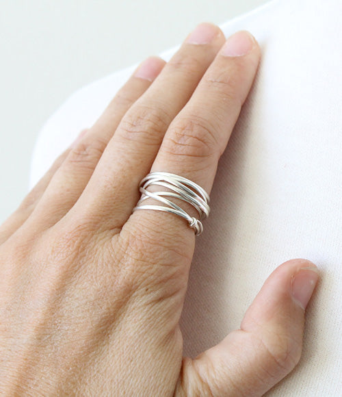 Thick Nested Wire Ring by Peggy Li Creations