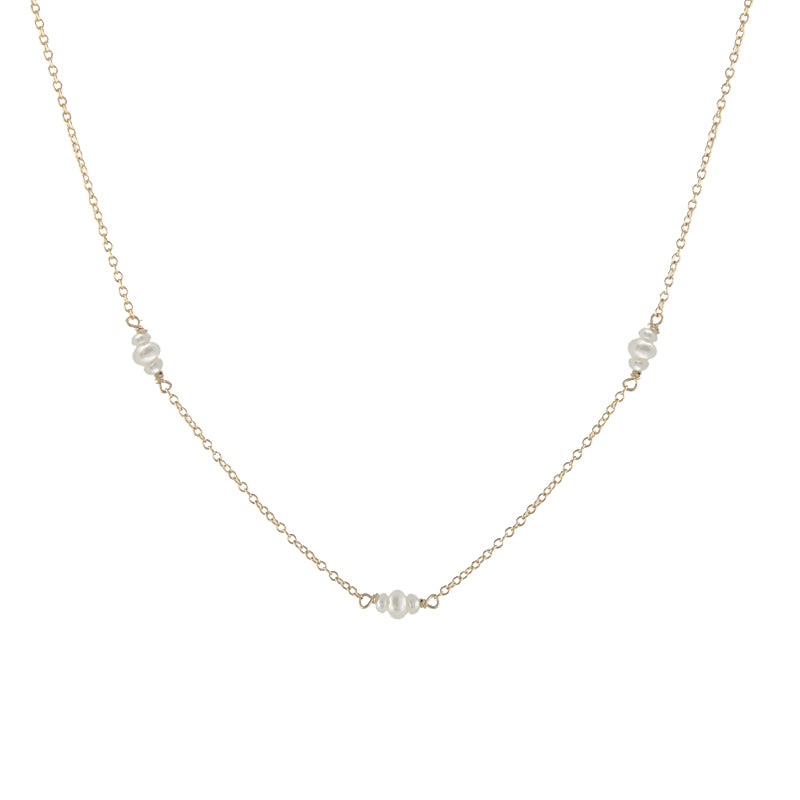 Bitty Pearl Chain Necklace
