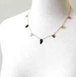 Tourmaline Leaves Necklace