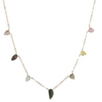 Tourmaline Leaf Necklace