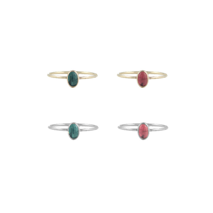 Small Oval Tourmaline Rings