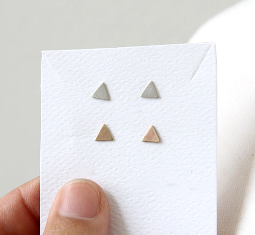Dainty Triangle Post Earrings